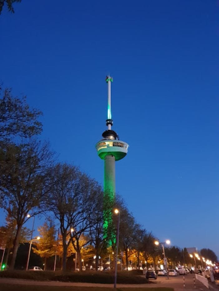 Euromast Tower in Rotterdam